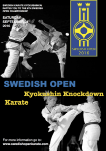 Swedish Open 2016 Kyokushin